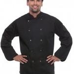 Preise für Arbeitsbekleidung T-Shirts und Kochbekleidung schwarz von Busitex
